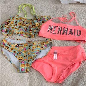 Emoji girls swimming set